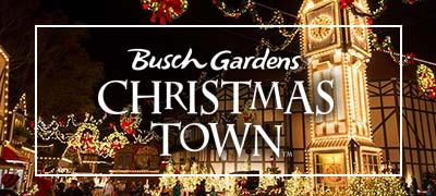 Busch Gardens Williamsburg Christmas Town.Busch Gardens Williamsburg Christmas Town 4 Tickets